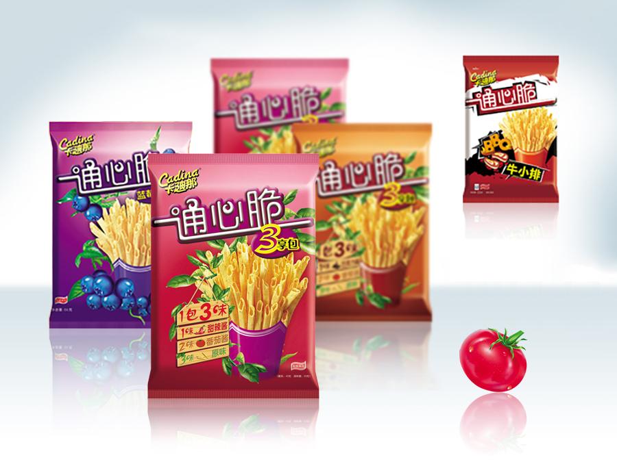 卡迪娜薯条系列产品包装设计 | 海报设计-设计案例-乐