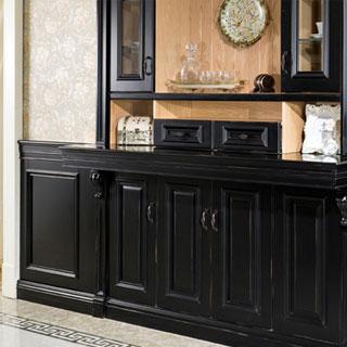 玛格定制家具欧式雅典黑酒柜